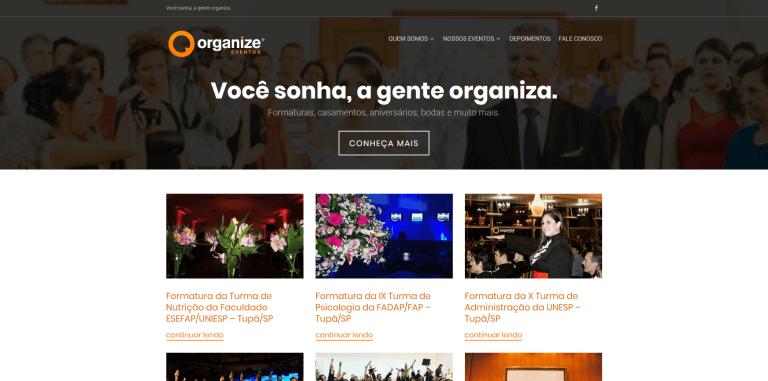 Organize Eventos