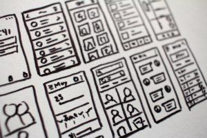 App development layout doodles.